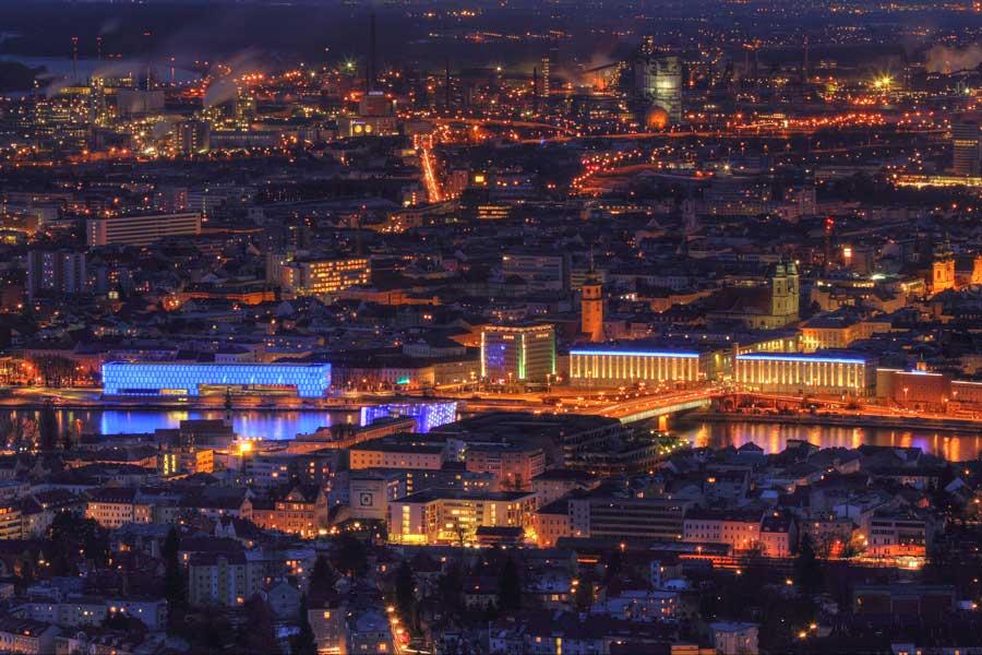 Linz Silvester Locations Aussicht
