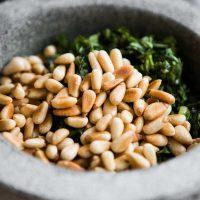 Tagliatelle Pesto Olivenöl Noan