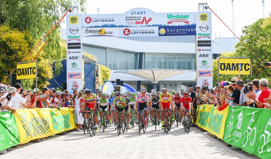Burgenland neuer Radweg eröffnet Start der Österreich Rundfahrt in Mörbisch