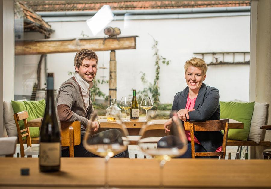 Wein als Kunstwerk am Weingut Arndorfer Anna Martin