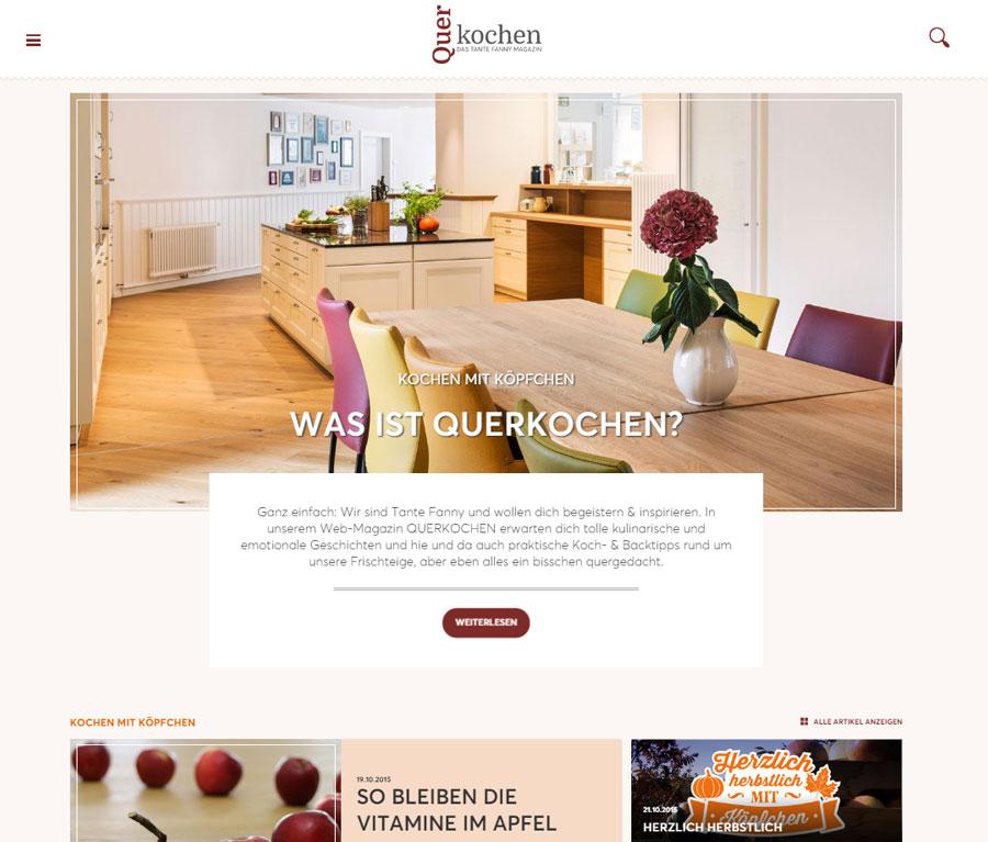 Tante Fanny launcht Web Magazin Tante Fanny Querkochen