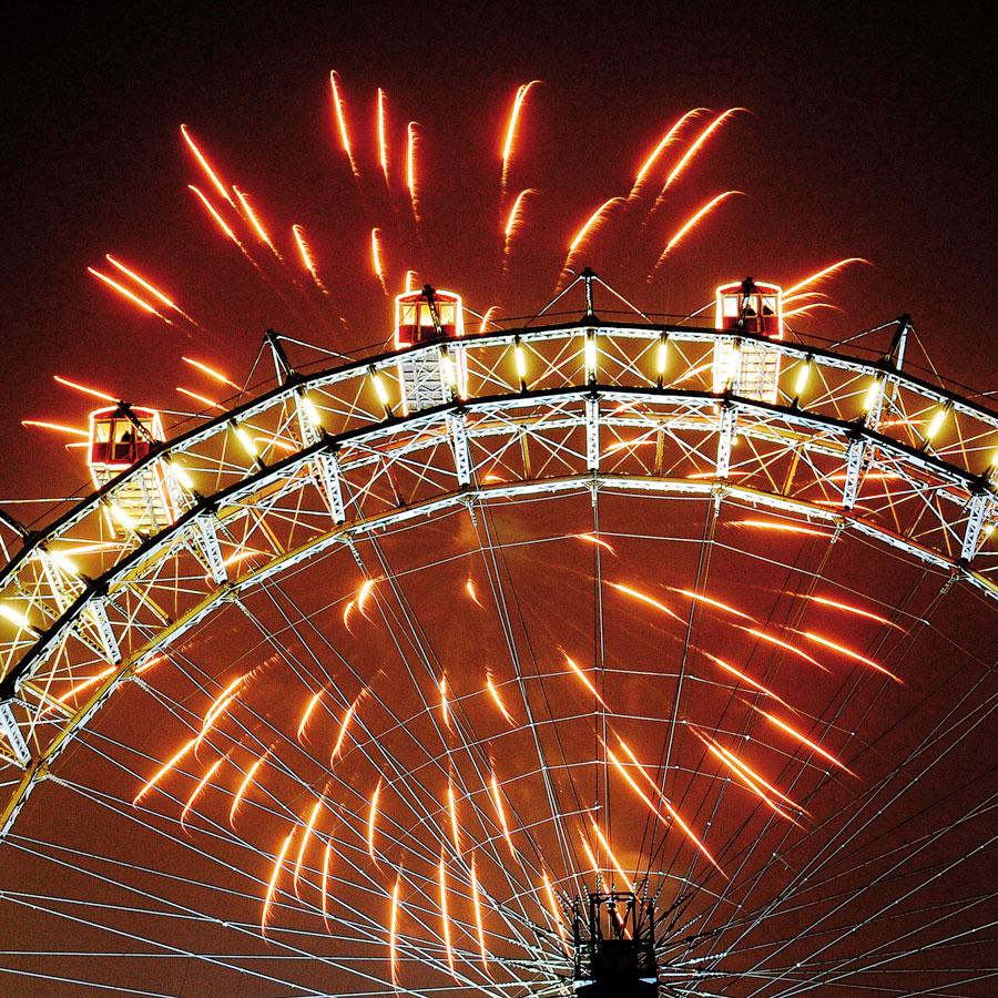 Silvester vor grandioser Kulisse Wien Riesenrad