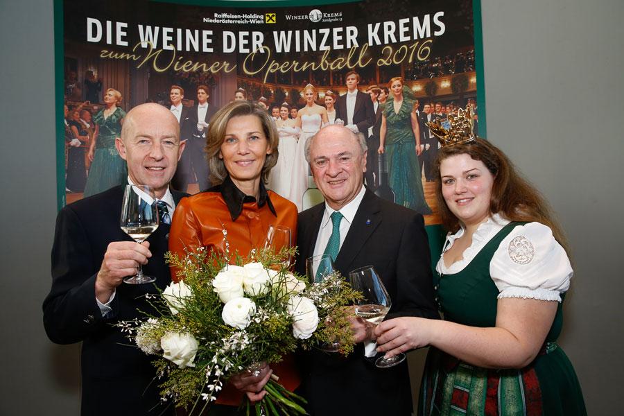 Winzer Krems am Opernball Franz Ehrenleitner Treichl-Stürgkh Erwin Pröll Dagmar Kohl