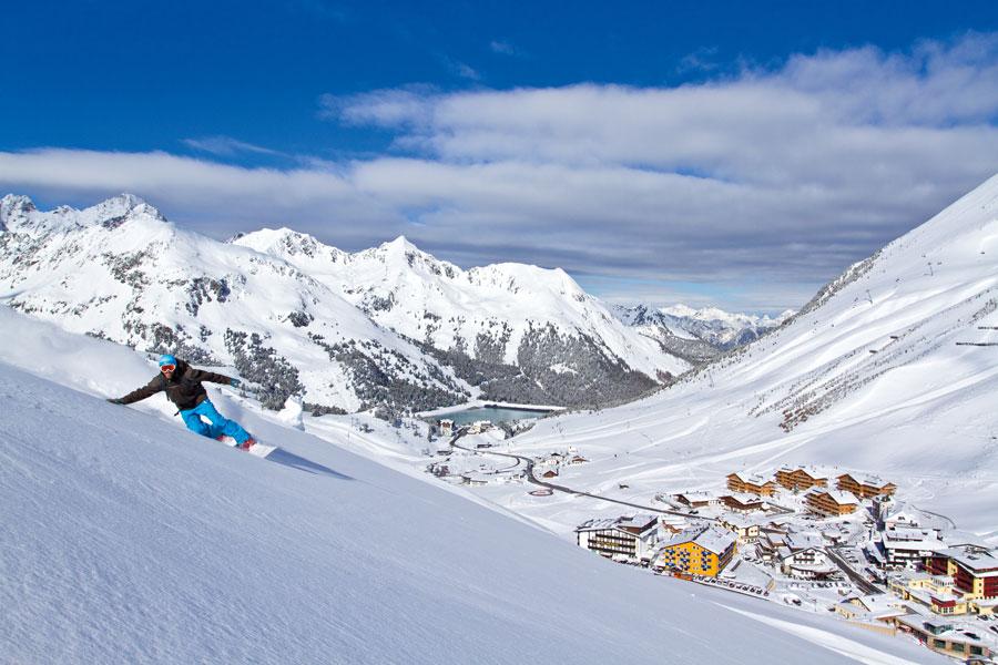 Kühtai als Treffpunkt der Snowboard-Szene