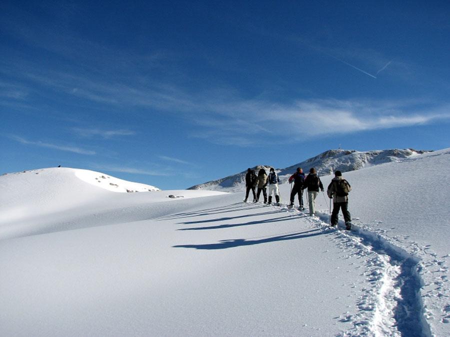 Schneeschuhwandern in Vorarlberg Schneeschuhwandern im Kleinwalsertal