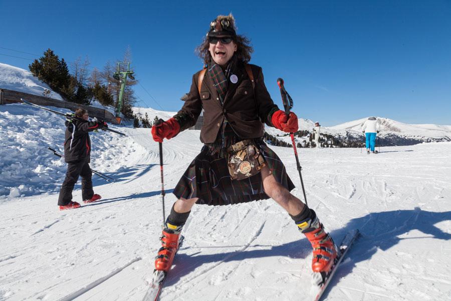 Turracher Höhe lädt zum Kilt-Skitag