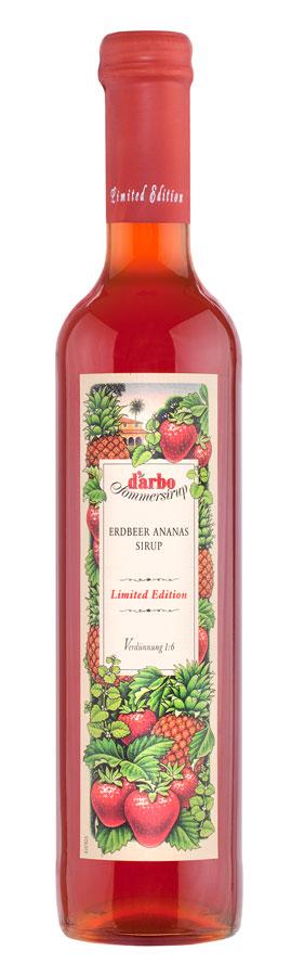 Darbo Sommersirup neue Sorte Sirup Erdbeer Ananas