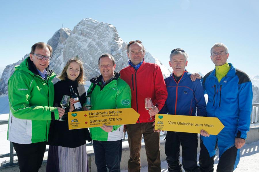 Neue Wanderroute in der Steiermark Vom Gletscher zum Wein