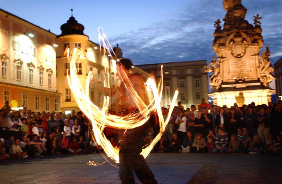 Straßenkunstfestival in Linz