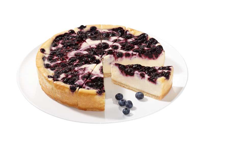 Sommerliche Desserts frisch und fruchtig Blueberry Cheesecake