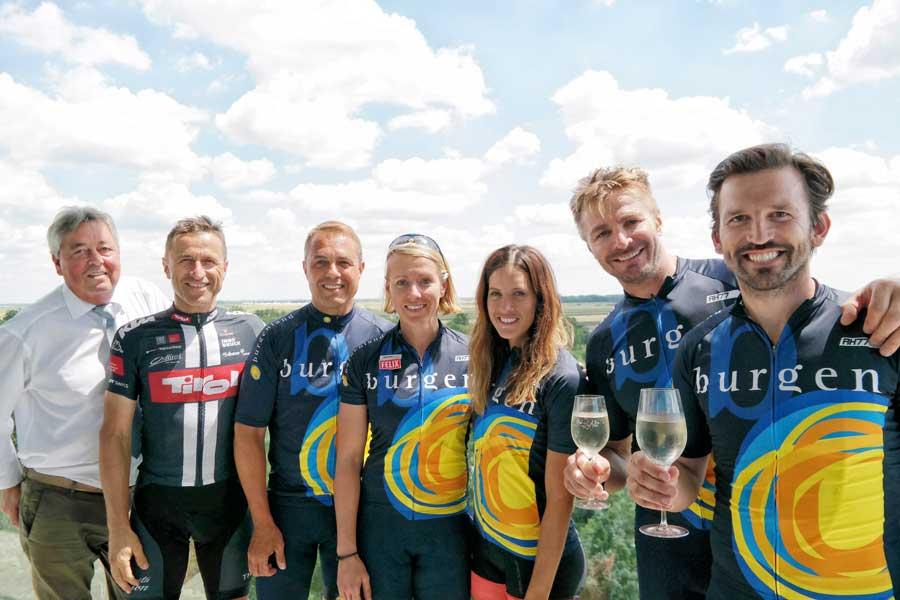 Tiroler Cycling-Team besuchte Burgenland