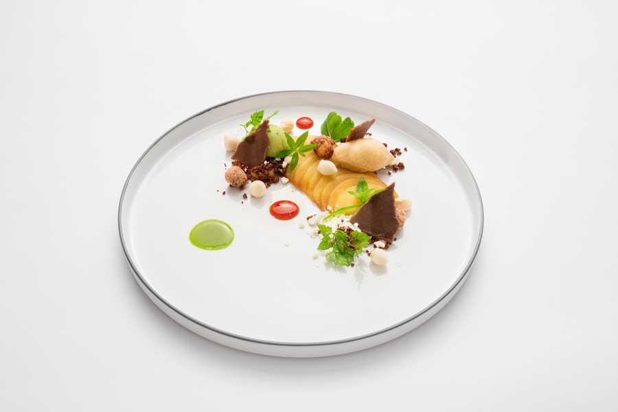 Dessert mit Apfel Tarte du Chef Kröswang Royal