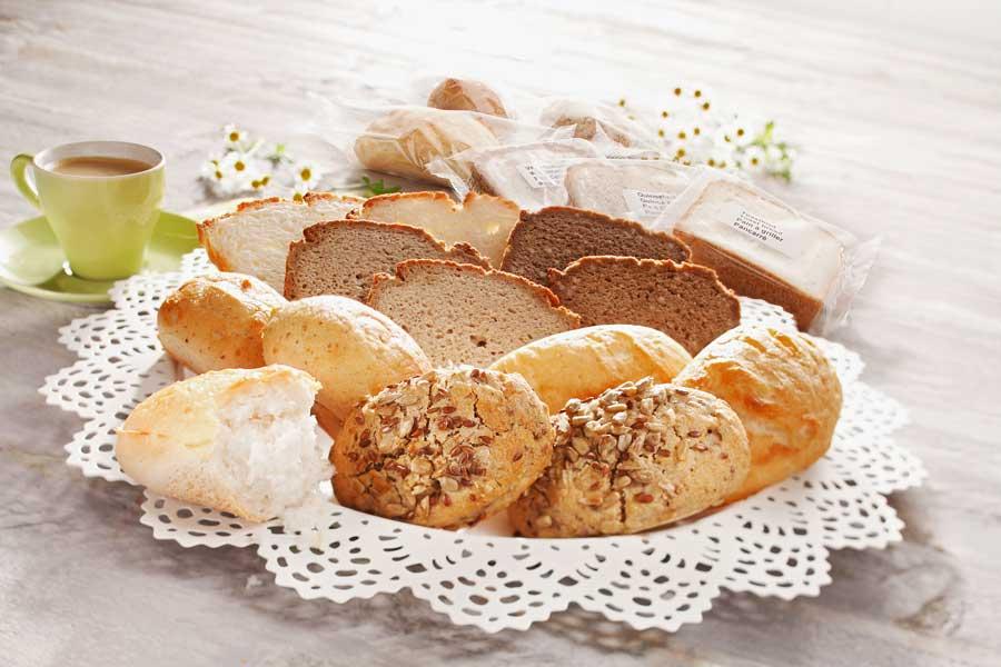Glutenfreies Gebäck für die Gastronomie.