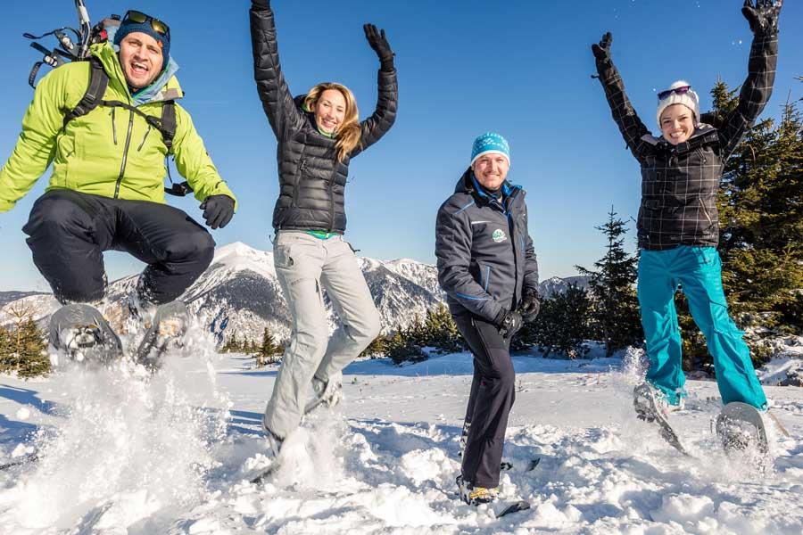 Schneeschuhwandern in Niederösterreich