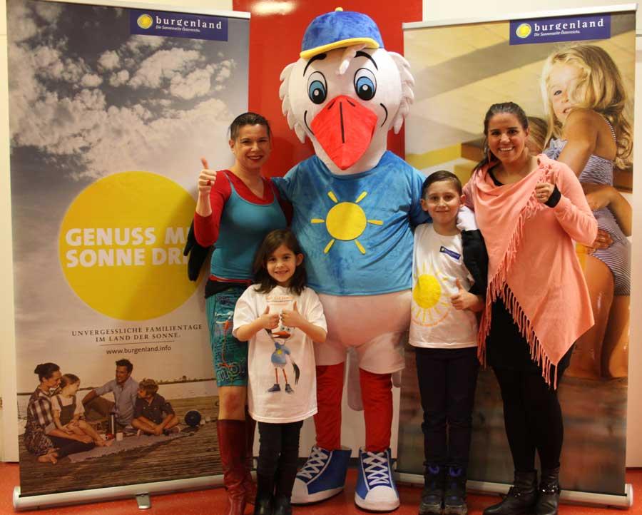 Neues Maskottchen für Burgenland Tourismus Maskottchen Ottokar Storch bewirbt als liebenswerter Sympathieträger das touristische Familienangebot im Burgenland.