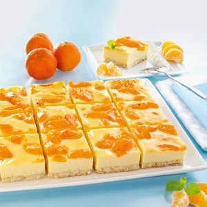 Sommerliche Desserts Biskuitwürfel fruchtige Kuchen