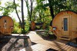 """""""Glamouröser"""" Camping-Urlaub im Schlaffass"""