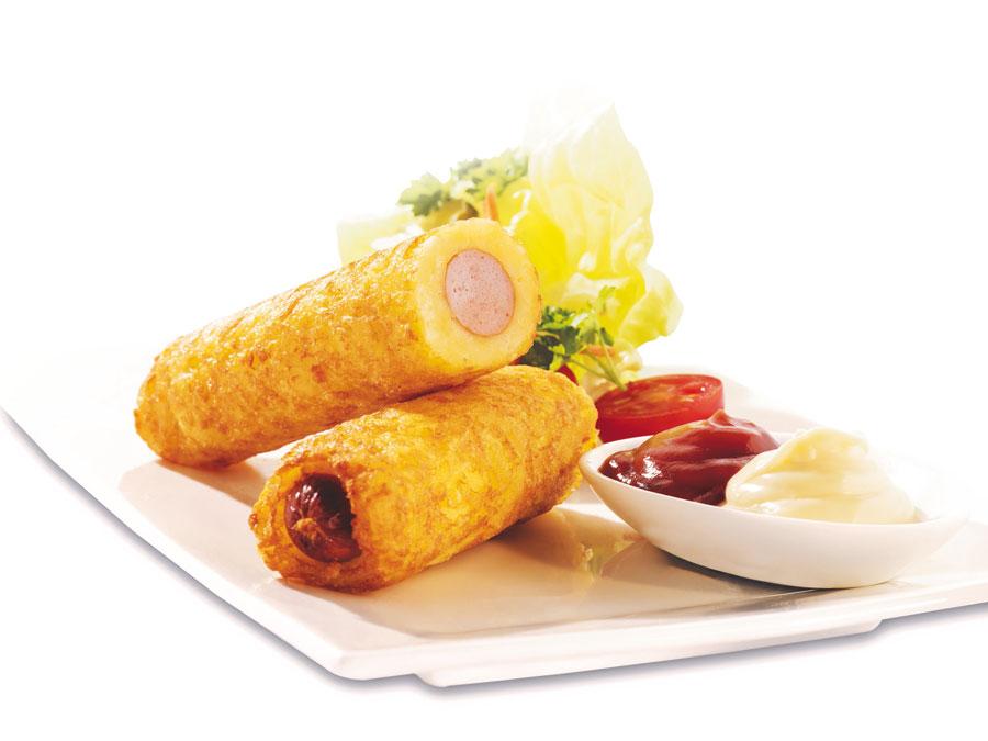 Gluten- und lactosefreier Snack Rösti-Hot Dog 11er