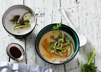 Low-Carb Rezept vegetarisch Seidentofu mit Kimchi