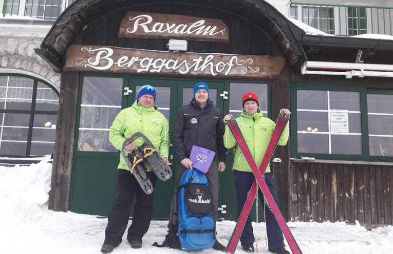 Trendsportart Schneeschuhwandern auf der Raxalpe