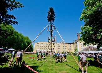 Maibaumfest in Salzburg mit Schmankerlgenuss Stiegl