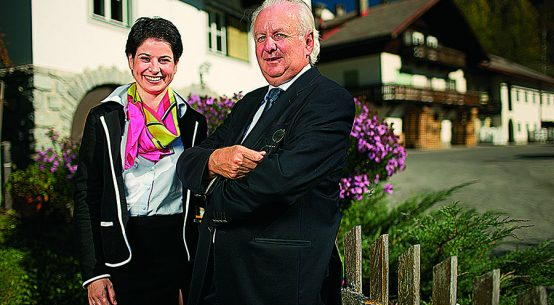 Michaela Hysek-Unterweger und Senior-Chef Paul Unterweger