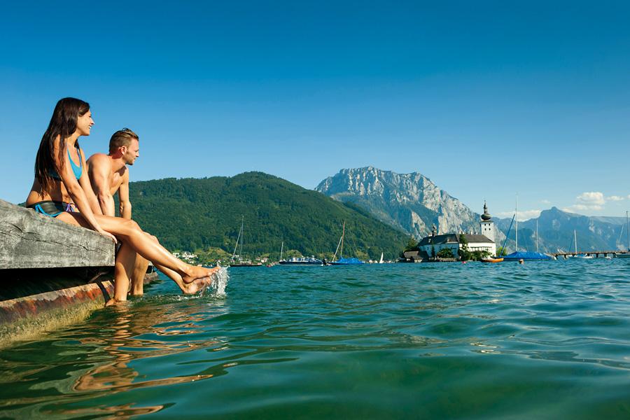 Tagesausflüge Oberösterreich, Badespass Traunsee, Oberösterreich Tourismus