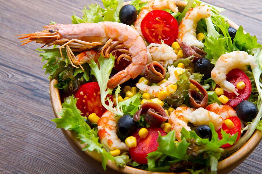 Allergenkennzeichnung Schulung Diätologin Shrimps Salat Krustentiere Lebensmittelunverträglichkeit
