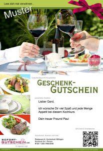 Sofort-Gutscheine Firmedia Muster, gasto gutscheine, gutscheine für die gastronomie