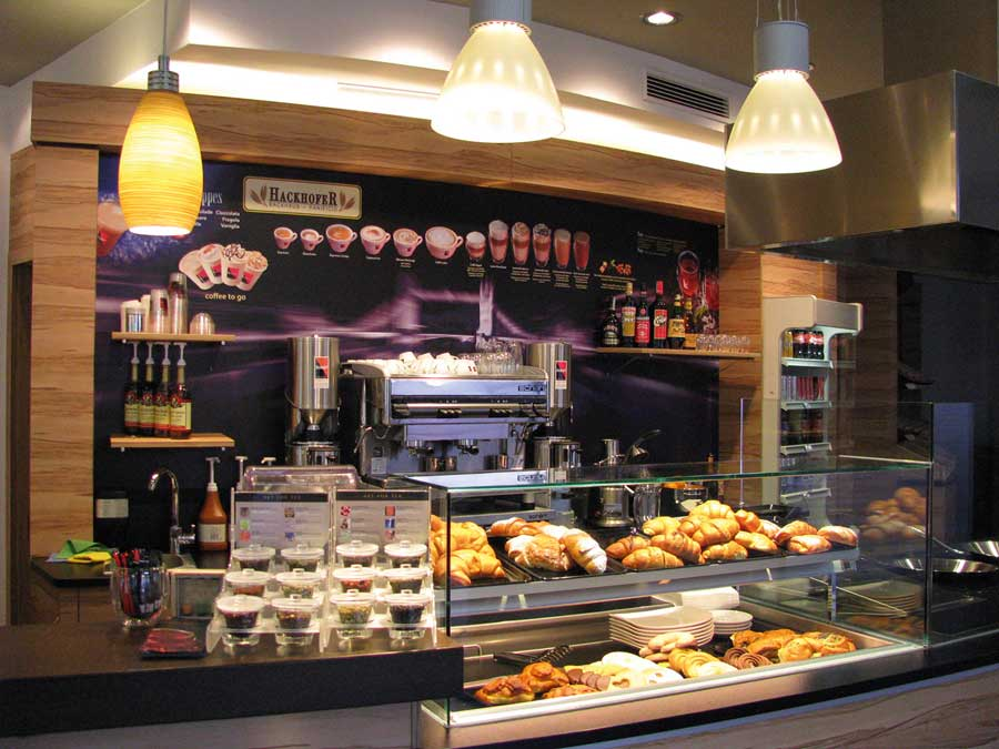 Komplettlösung für Cafebetriebe Schärf-Barista-Konzept