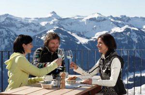 Vorarlberg Winterurlaub Gäste Umfrage Panoramarestaurant Baumgarten Bezau