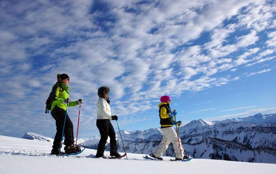 Vorarlberg Winterurlaub Gäste Umfrage Schneeschuhlaufen Niedere