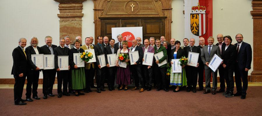 Auszeichnungen für Touristiker OÖ Touristiker Ehrung