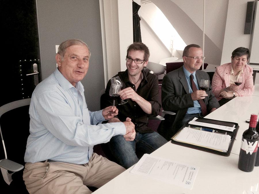 Bio Gütesiegel für Weingut Weiss Vertragsunterzeichnung Eco Wellness