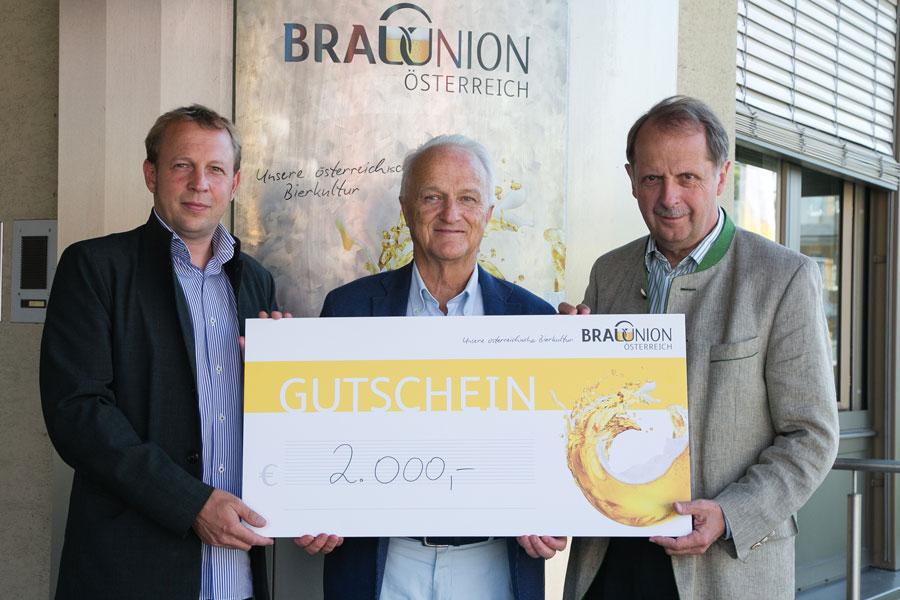 Brau Union spendet an Pro Mente