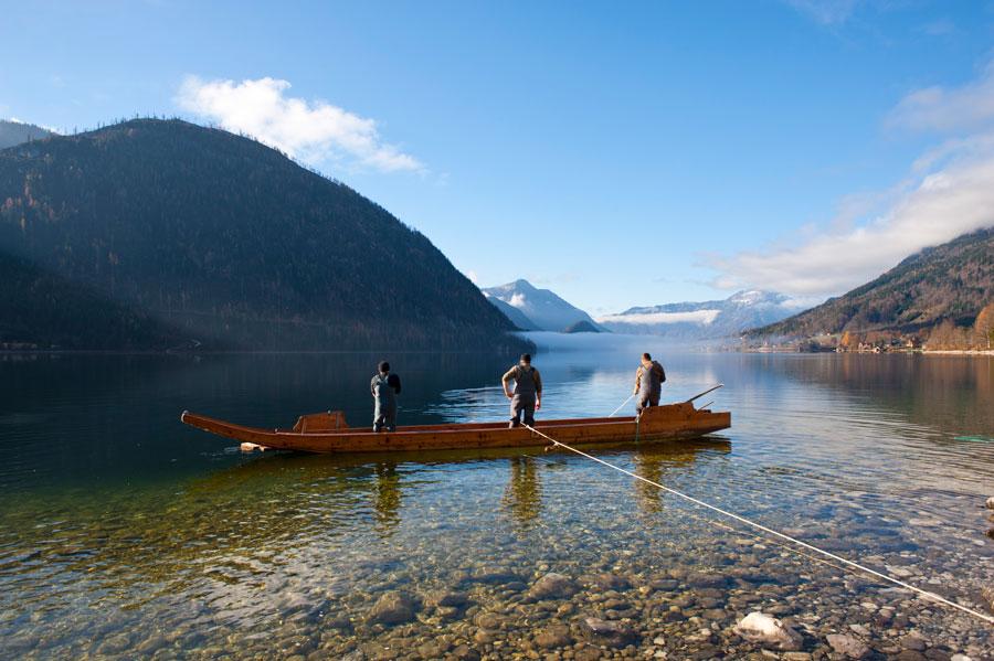 Wildfang Bundesländer Gastronome Netzfischerei am Grundlsee Steiermark