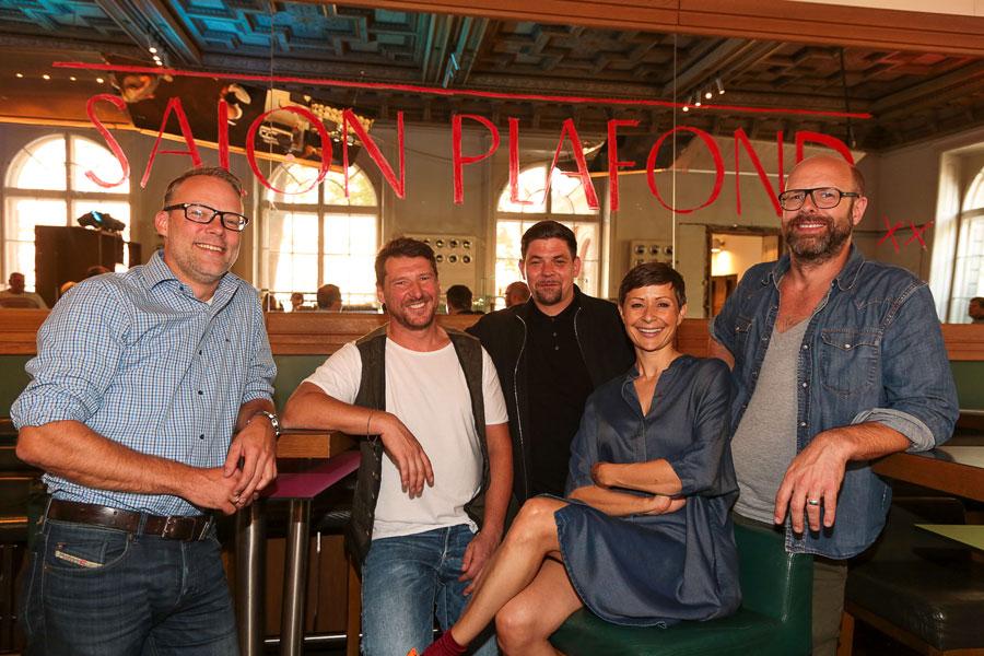 Neues Lokal im Wiener MAK Bart Felix, Peter Eichberger, Tim Mälzer, Barbara Eichberger, Patrick Rüther