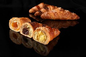 Französische Croissants Gastronomie Délifrance fruchtig gefüllte Buttercroissants