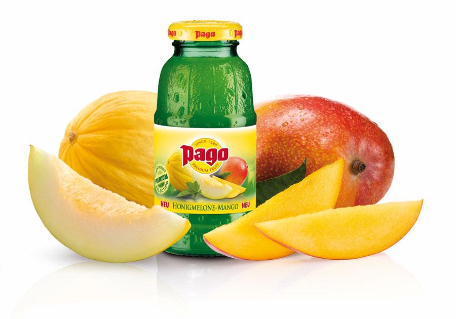 Pago Trinkgenuss Erlebnis Gast Messe Honigmelone Mango