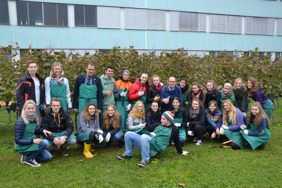 Kärntner Tourismusschule Weinlese