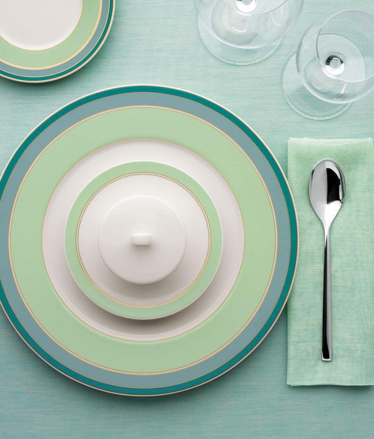Edles Porzellan Geschirr Gastronomie Bauscher Purity Colors Noblesse Garden