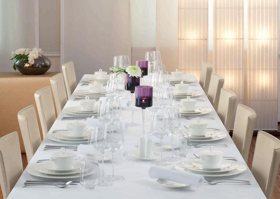 Edles Porzellan Geschirr Gastronomie Bauscher Purity Tafel