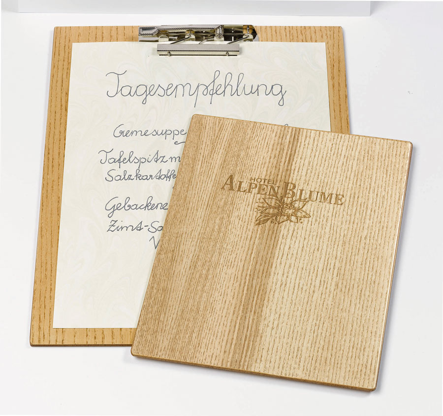 Edle Speisekarten Reischl Gast Messe Menübord Holz