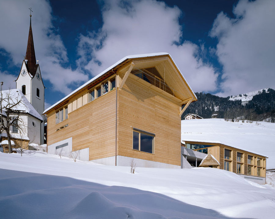 Erlebnis Architektur Vorarlberg Gemeindezentrum Blons Bruno Klomfar Vorarlberg Tourismus