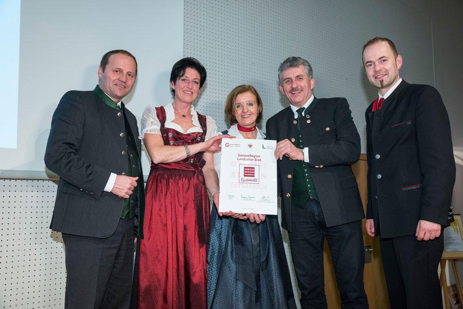 Auszeichnung für Landecker Brot Tiroggl