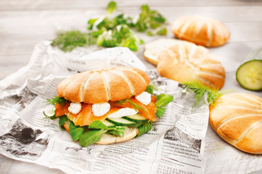 Gesunde Streetfood- und Snack-Brötchen