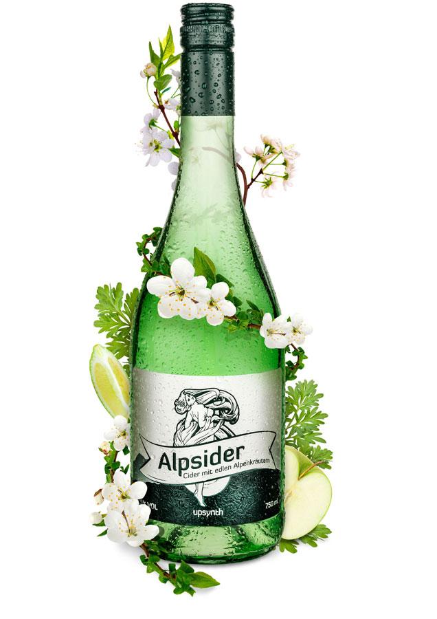 Alpenkräuter Getränke aus Österreich Apfelschaumwein Alpsider Upsynth