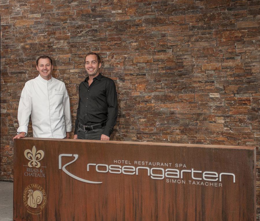 Neue Rezepte von Taxacher für Kröswang Manfred Kröswang (r.) und Simon Taxacher