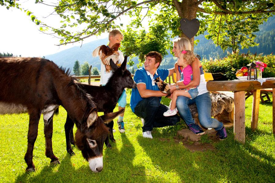 Familienurlaub im Bergdorf der Tiere