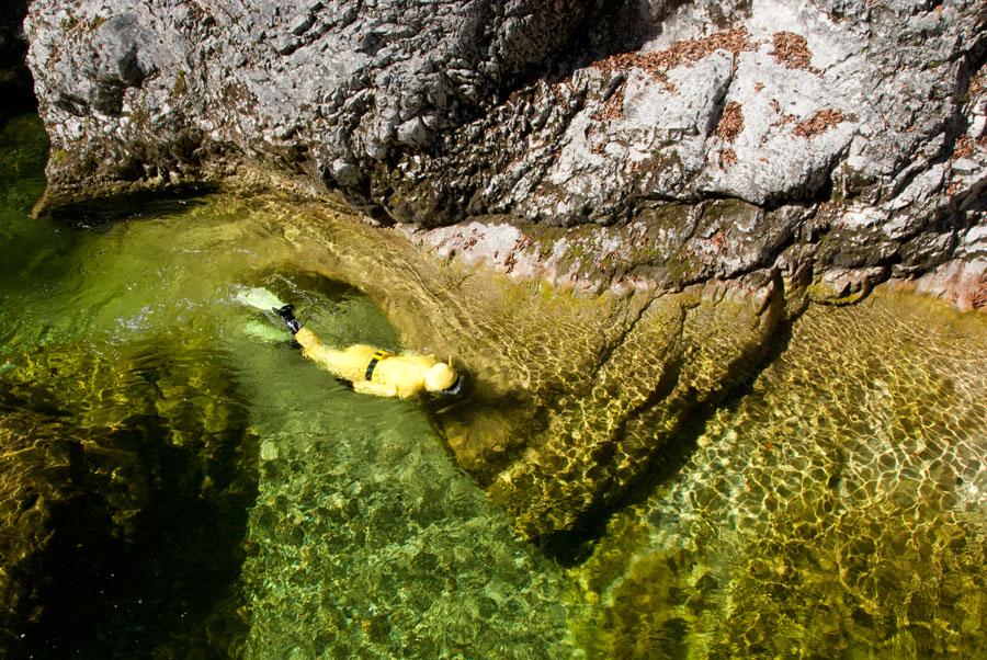 Wandern mit der Taucherbrille Flusstauchen